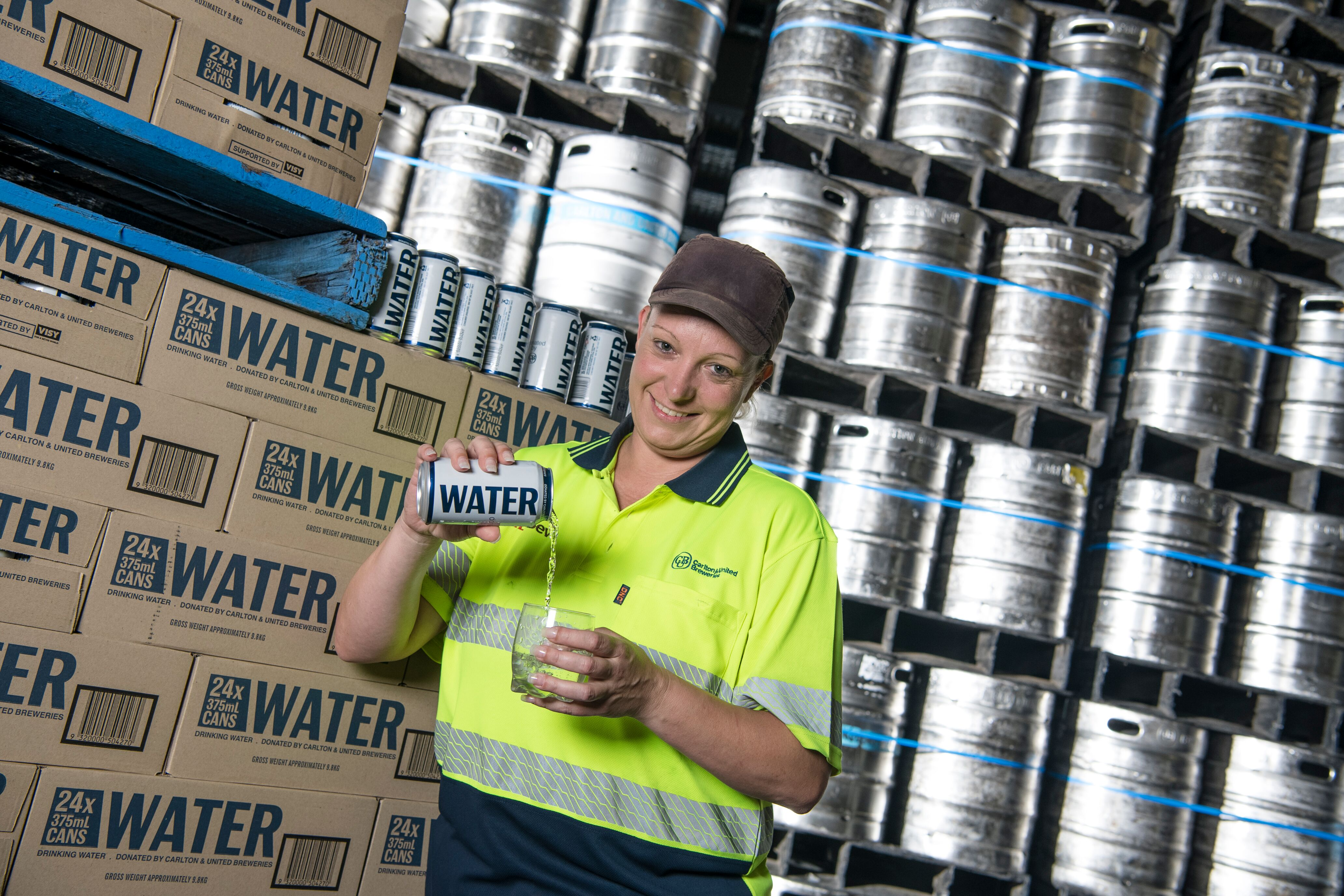 Free drinking water in the can for disaster-affected Queenslanders