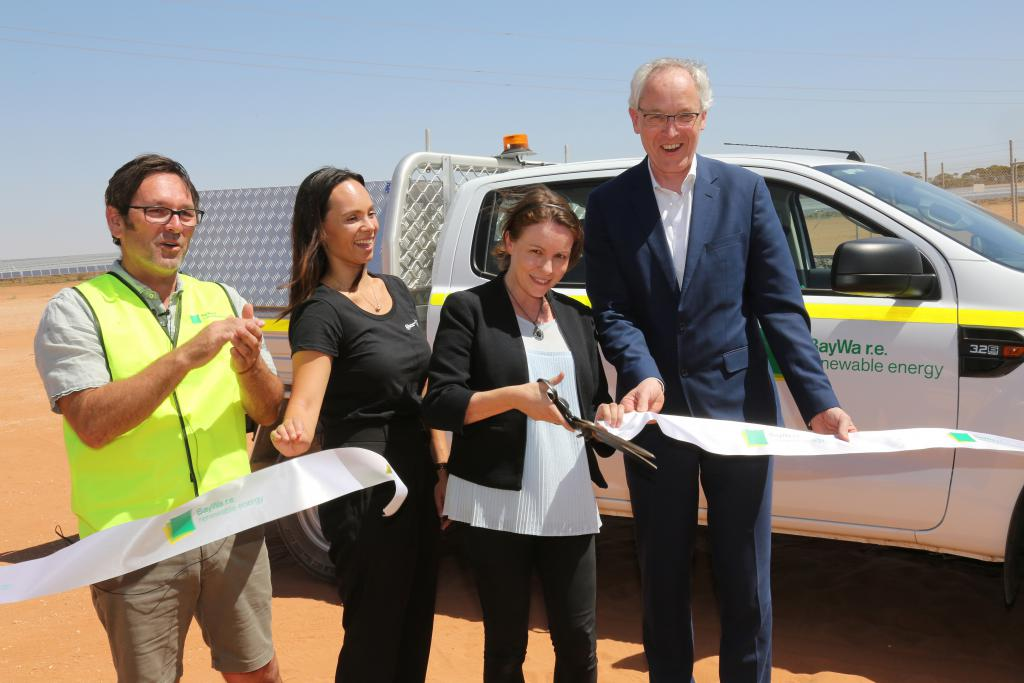 BayWa r.e., Carlton & United Breweries, Flow Power and Beon Energy Solutions celebrate official opening of Victoria's largest solar farm