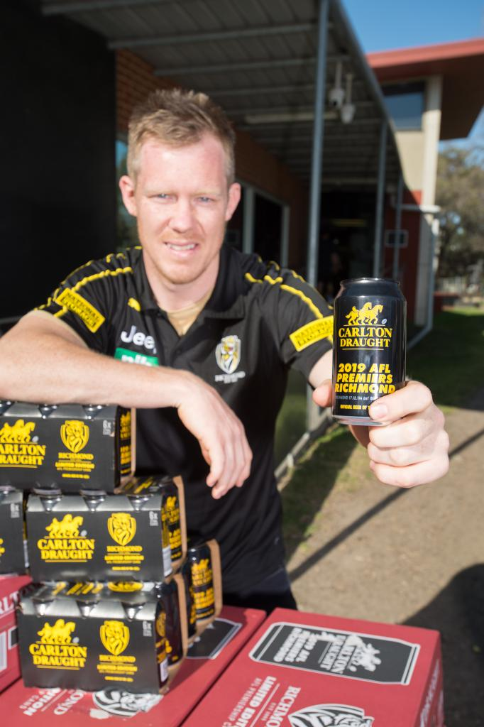 Richmond Premiership Cans roll off the line as the Punt Road party continues